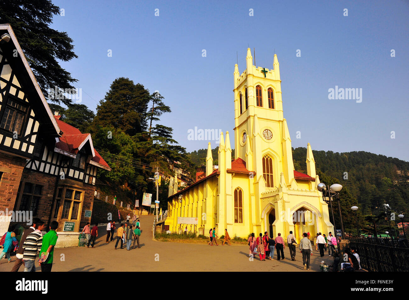 Christ church, shimla, himachal pradesh, india, asia - Stock Image
