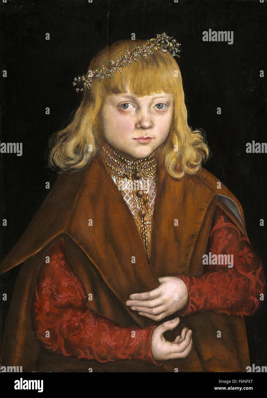 Lucas Cranach the Elder - A Prince of Saxony - Stock Image