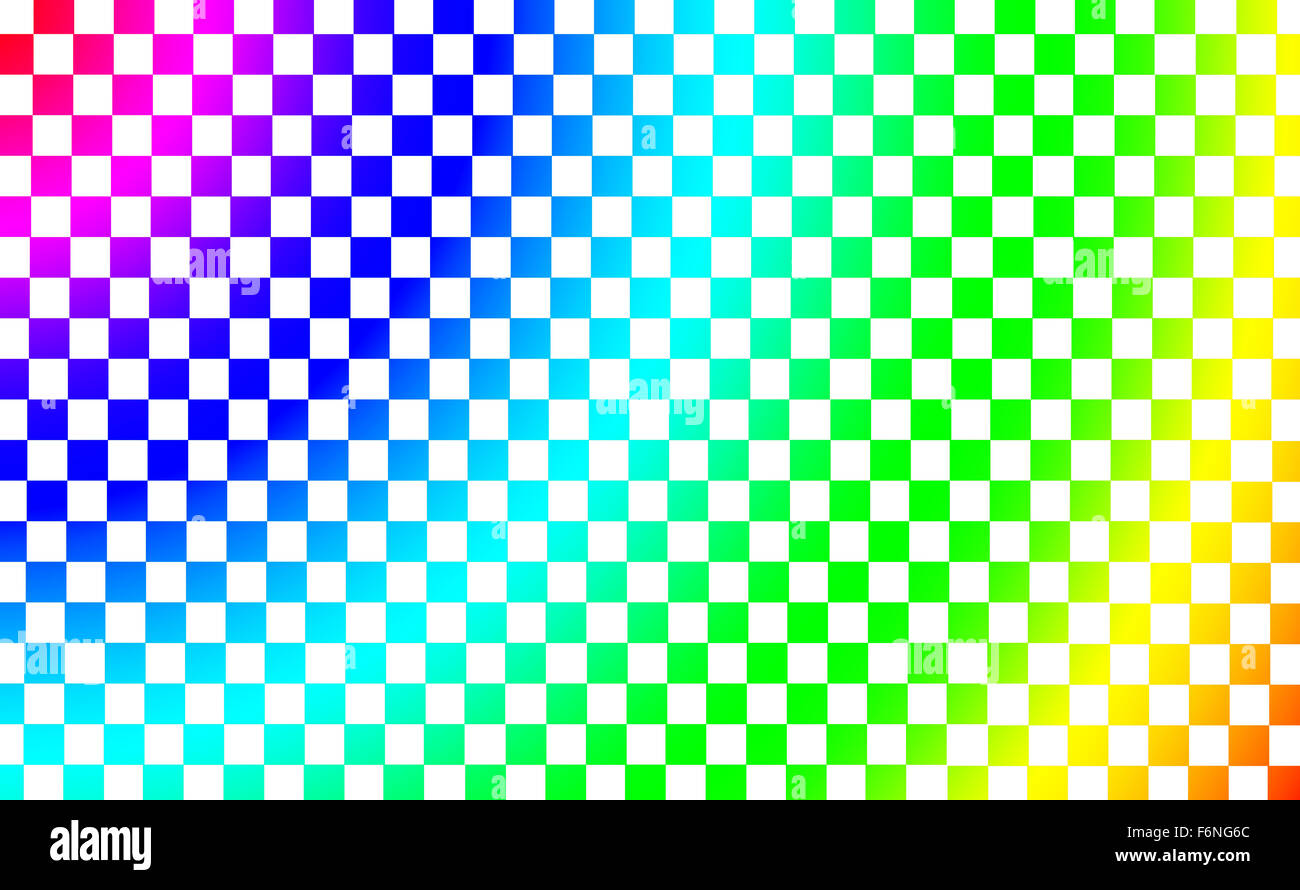 Abstract square colored pixels with rainbow colors - Stock Image