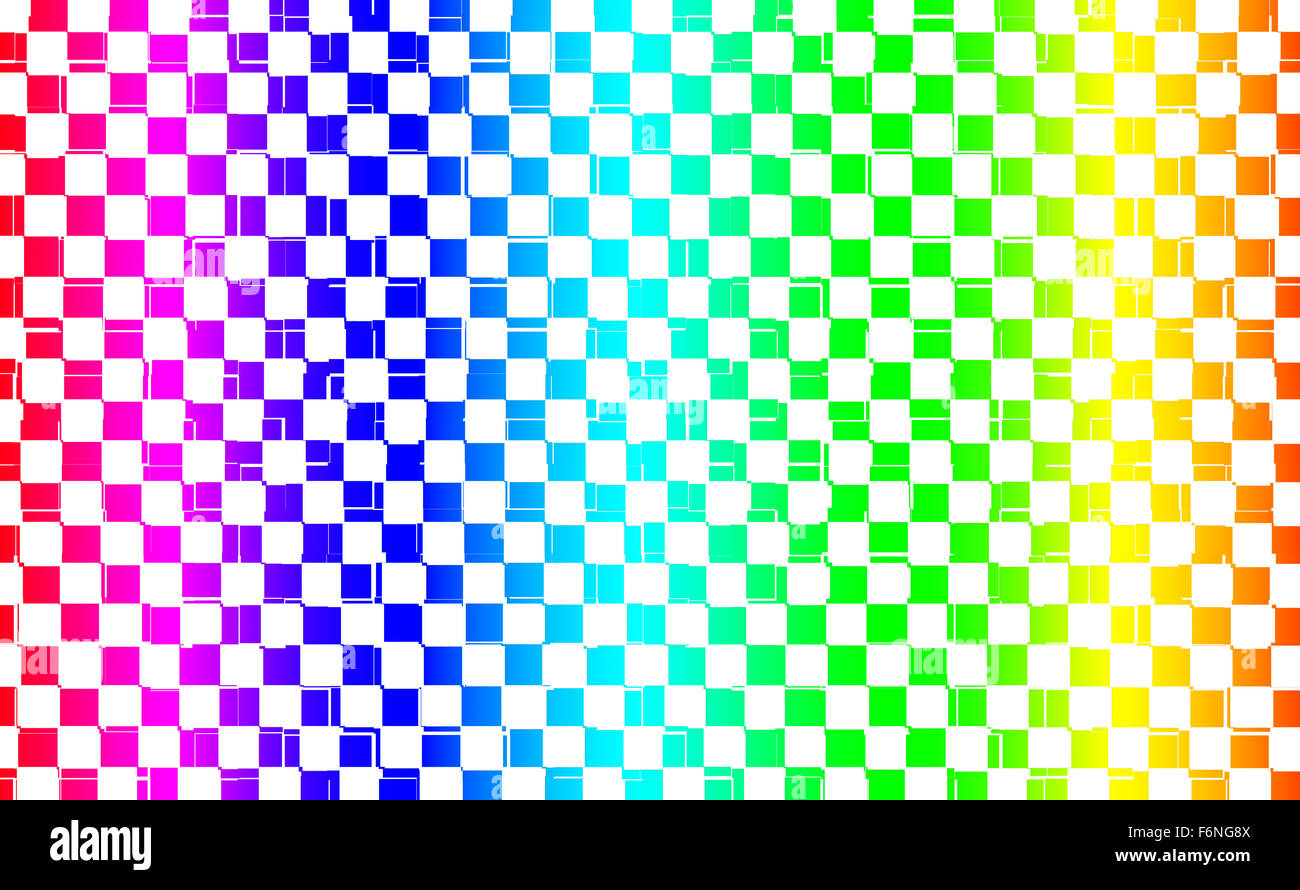 Abstract Square Colored Pixels With Rainbow Colors Stock