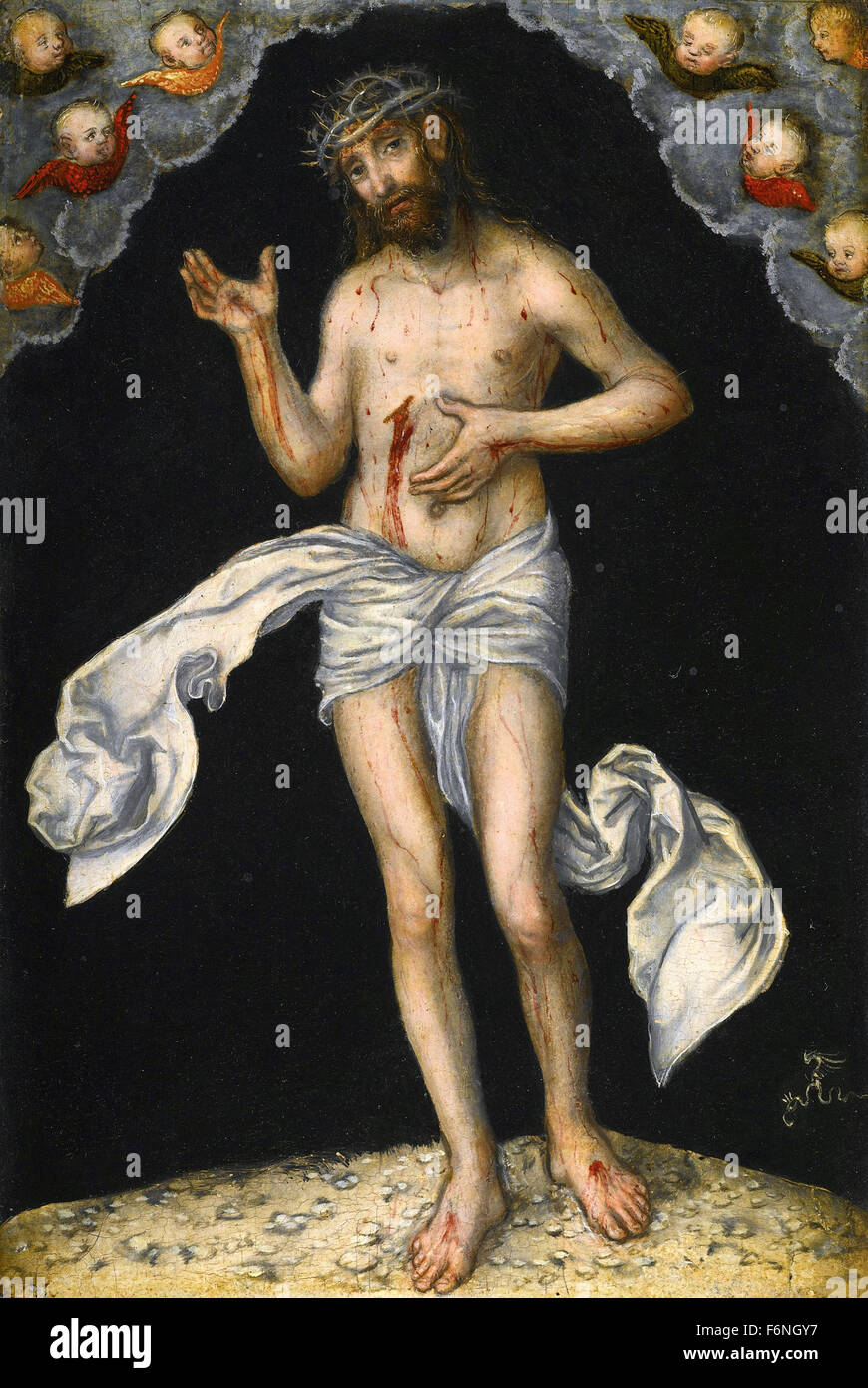 Lucas Cranach the Elder - Christ as Man of Sorrows Stock Photo