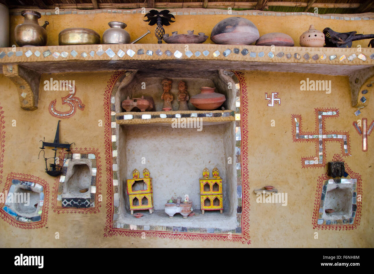 decoration village Traditional village home wall decoration, jodhpur, rajasthan  decoration village