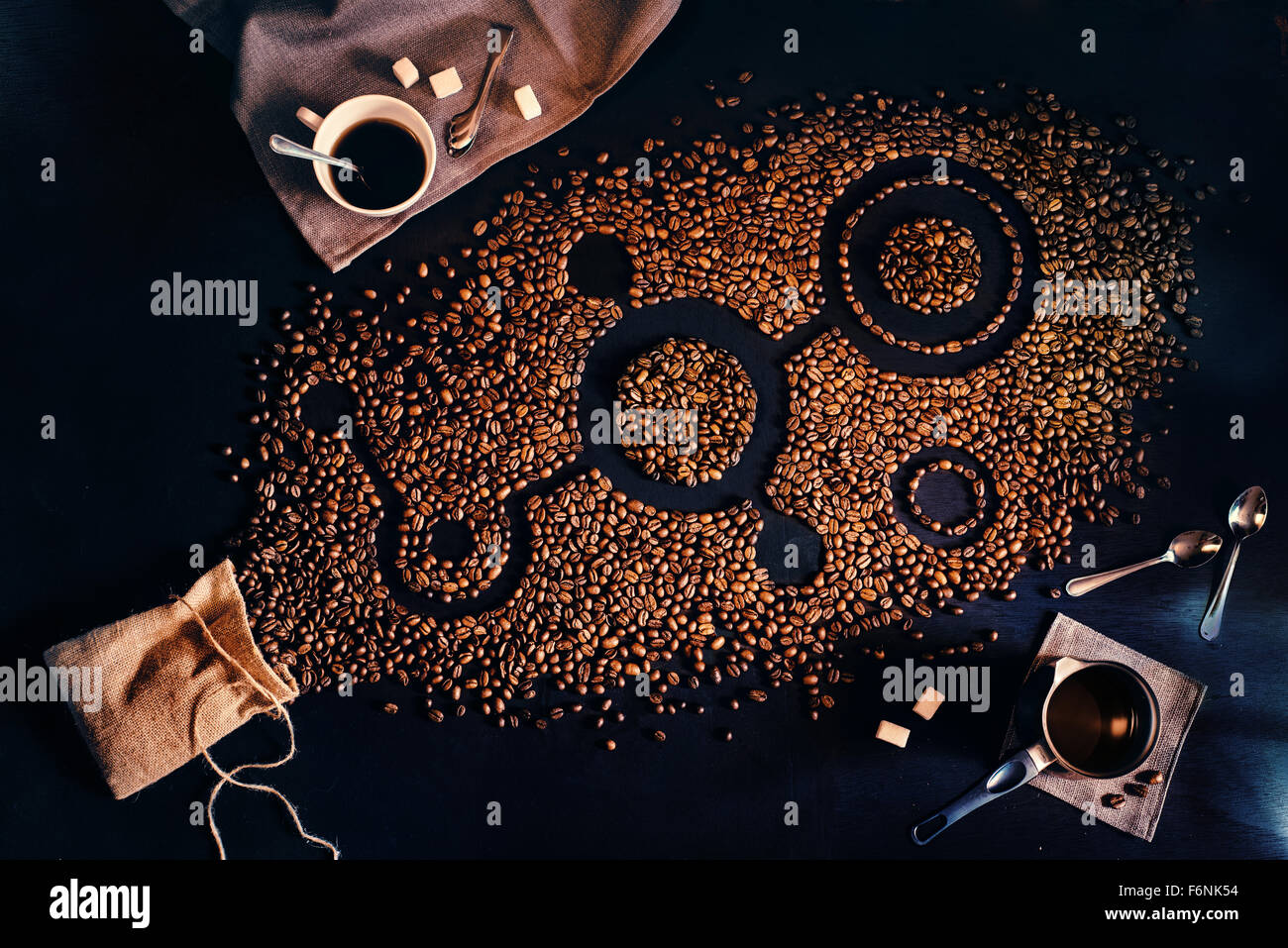 Coffee signs - Stock Image