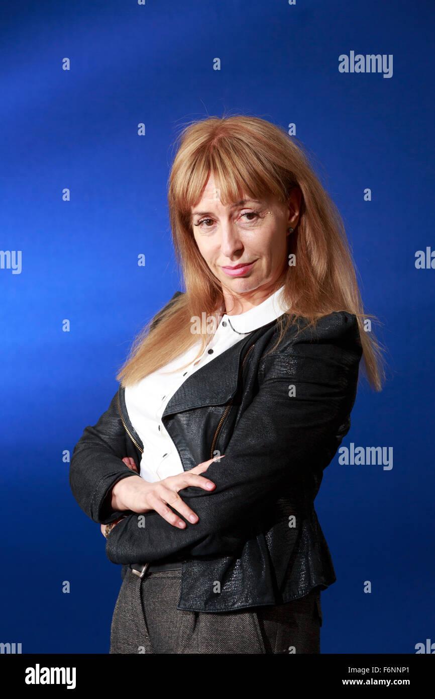 Edinburgh International Book Festival 2013 portrait of Susan Greenfield at Charlotte Square Garden   Pic by Pako - Stock Image