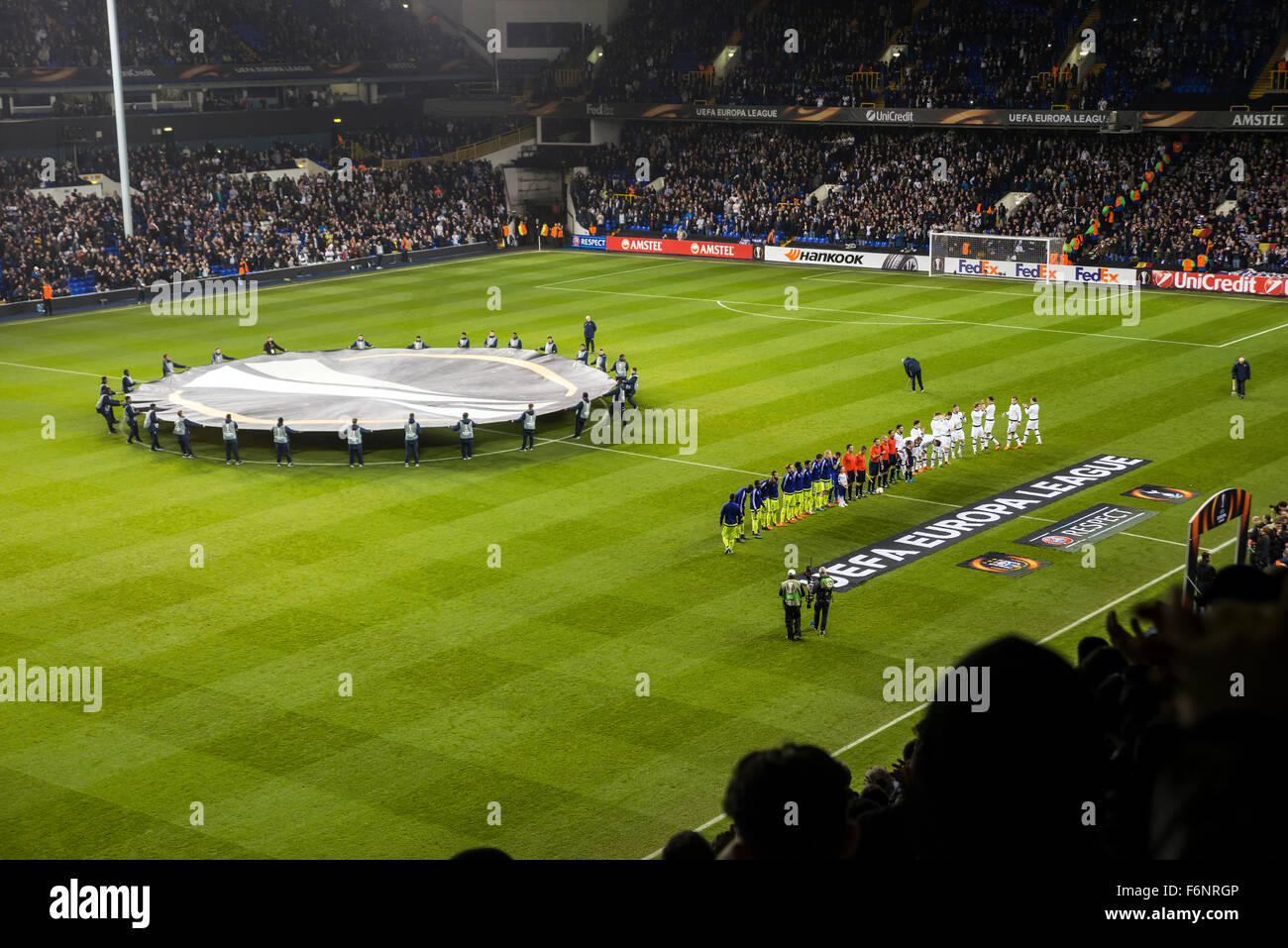 Tottenham Hotspur v R.S.C. Anderlecht in the group stages of the Europa League at White Hart Lane, London, UK, 5th - Stock Image