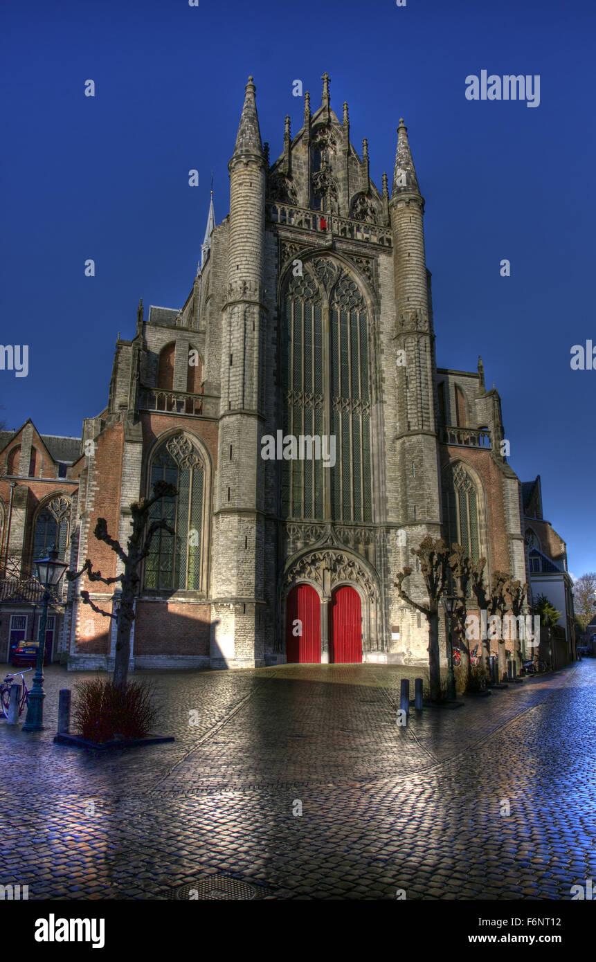 This Gothic Church is Hooglandse Kerk, Leiden. Stock Photo