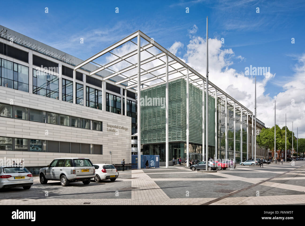 Imperial College, London.Exhibition Road facade - Stock Image