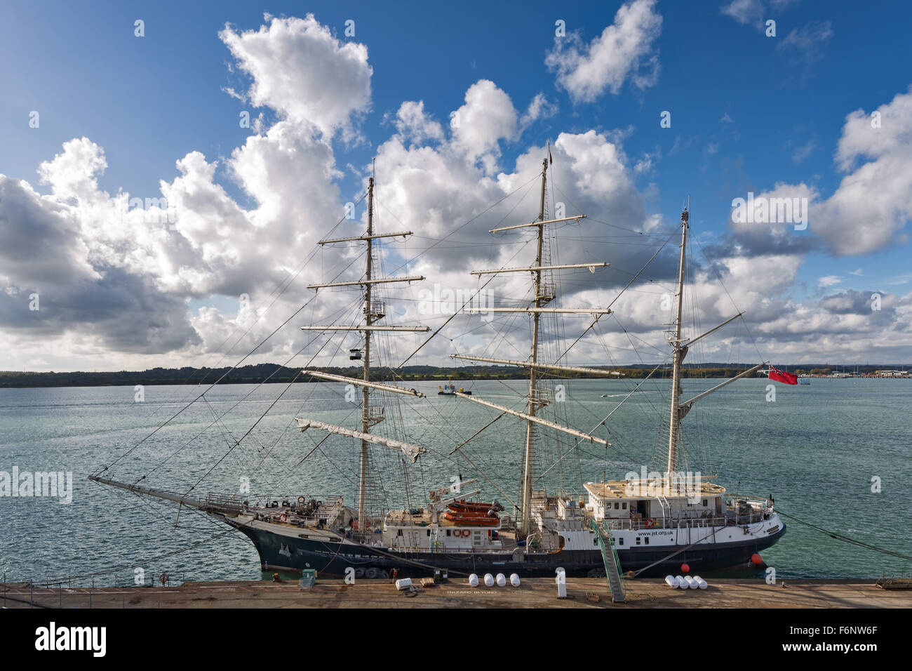 The Tenacious. A tall ship adapted for disabled people by the Jubilee Sailing Trust - Stock Image