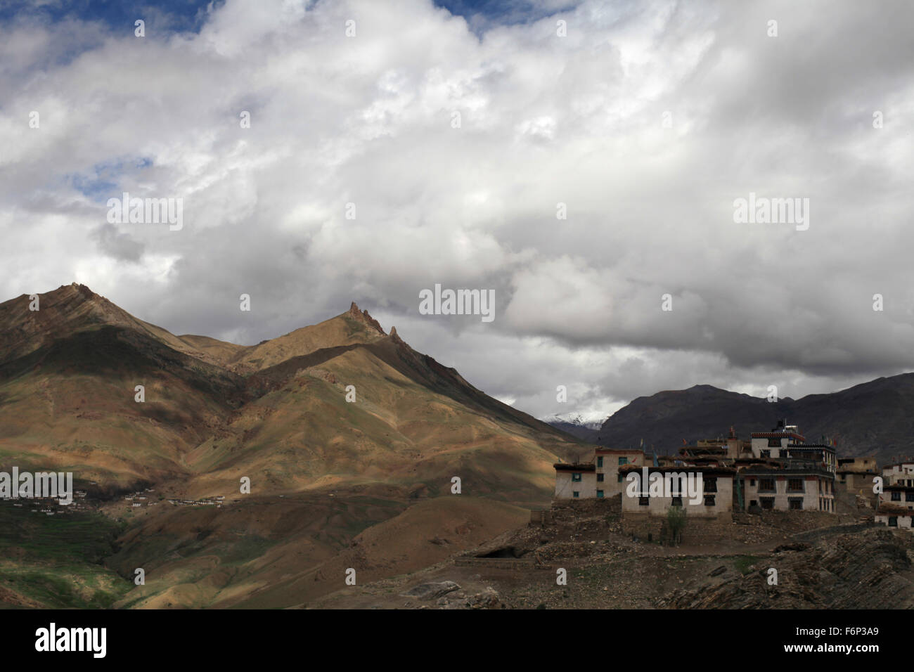 SPITI VALLEY - Rangarik Village, Himachal Pradesh, India Stock Photo