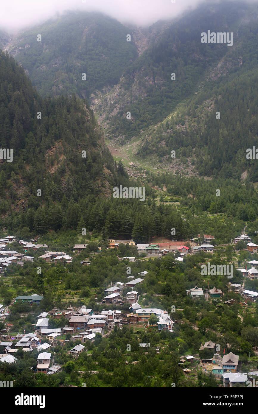 SPITI VALLEY - Kinnaur village view Himachal Pradesh, India Stock Photo