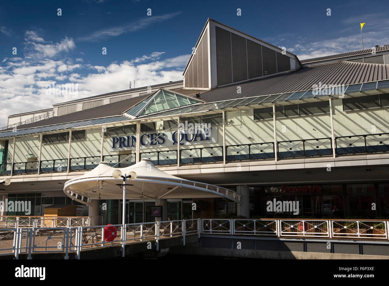 UK, England, Yorkshire, Hull, Princes Dock Shopping Centre, Princes Dock Street entrance - Stock Image