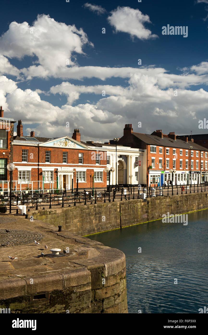UK, England, Yorkshire, Hull, Princes Dock Street, heritage dockside buildings - Stock Image