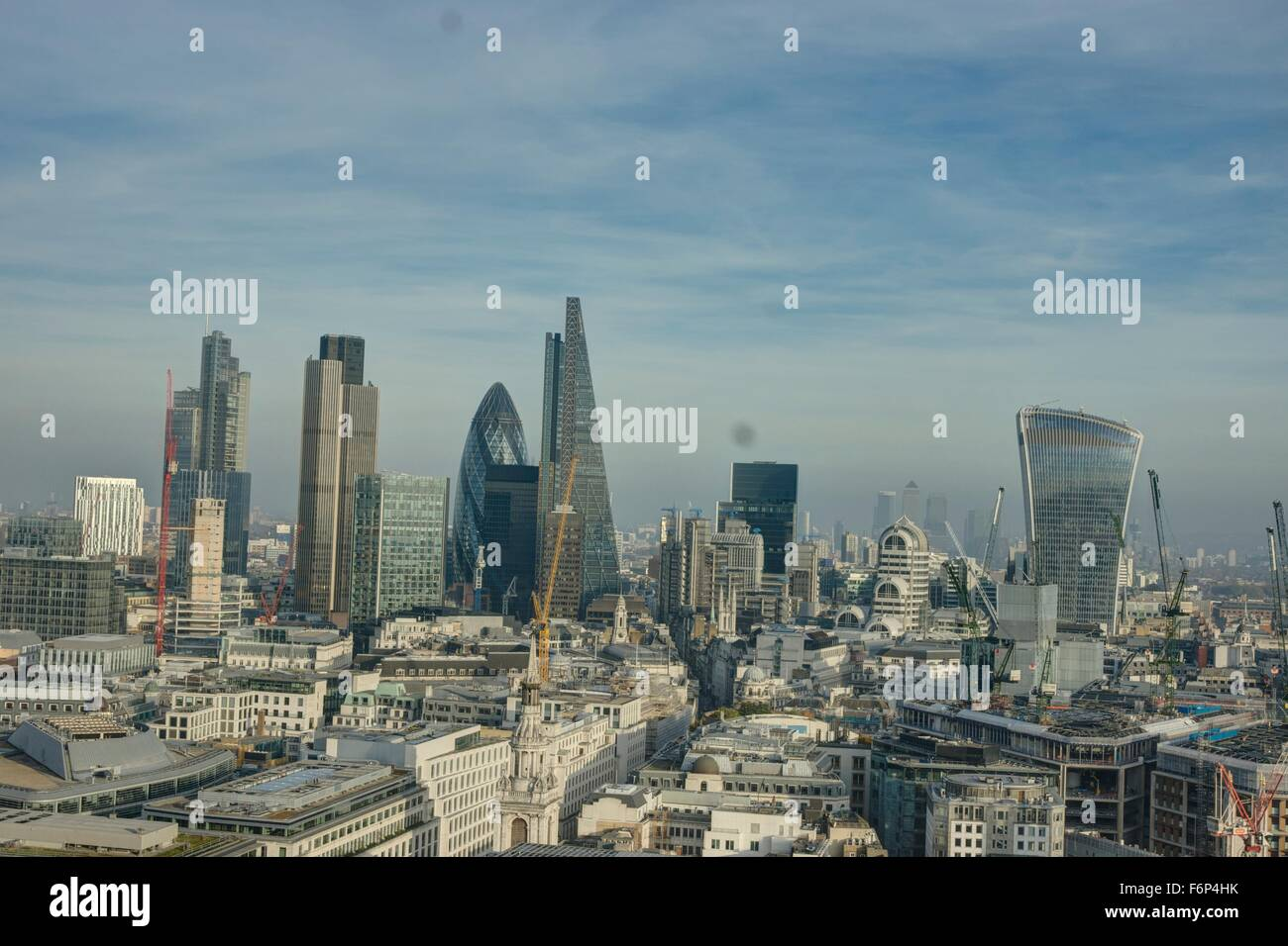 city of London,  tall buildings,  financial district, sky scrapers,  city skyline - Stock Image