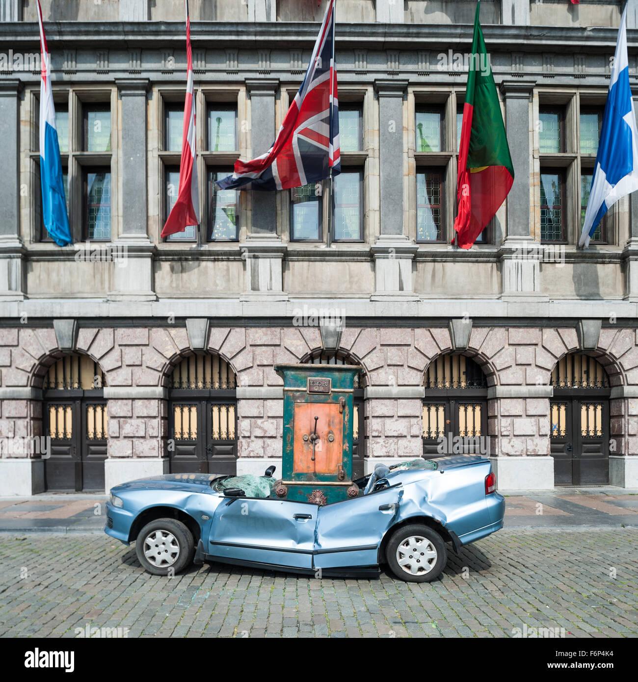 Belgium, Antwerp, The giants, Royal de Luxe - Stock Image