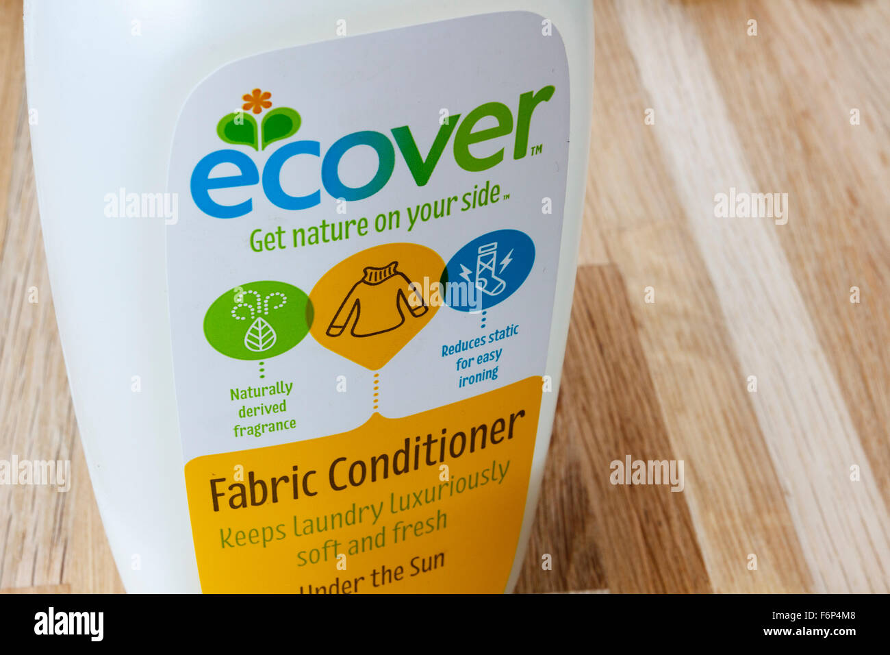 Bottle of Ecover fabric conditioner - Stock Image