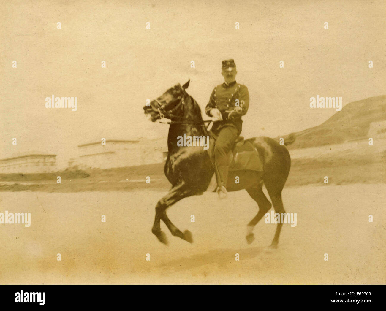 Official galloping cavalry, Italy - Stock Image