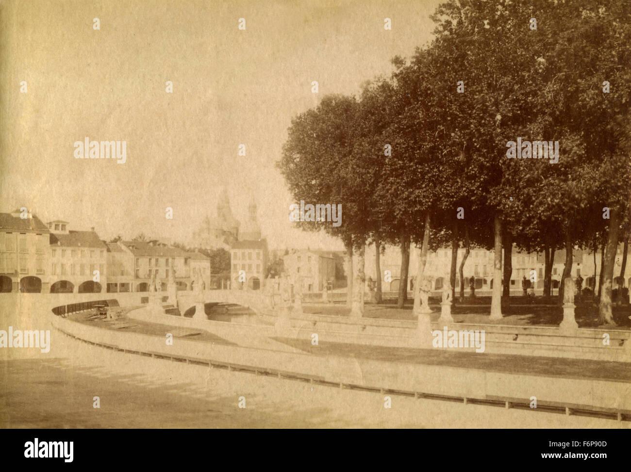 Piazza Vittorio Emanuele, Padua, Italy - Stock Image