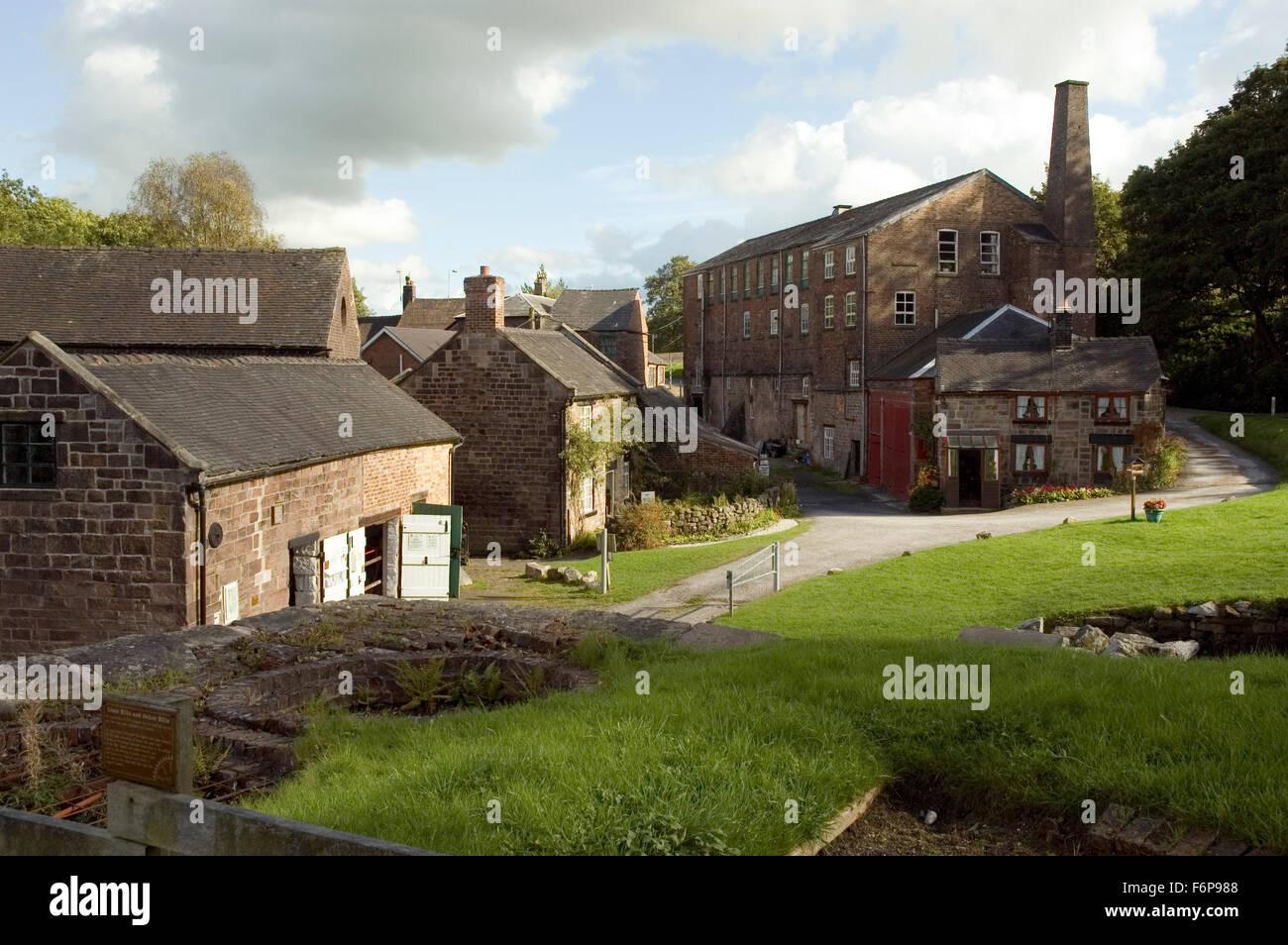 Cheddleton Flint Mill, Cheadle Road,  Cheddleton, Stoke-on-Trent, Staffordshire, England, UK Europe - Stock Image