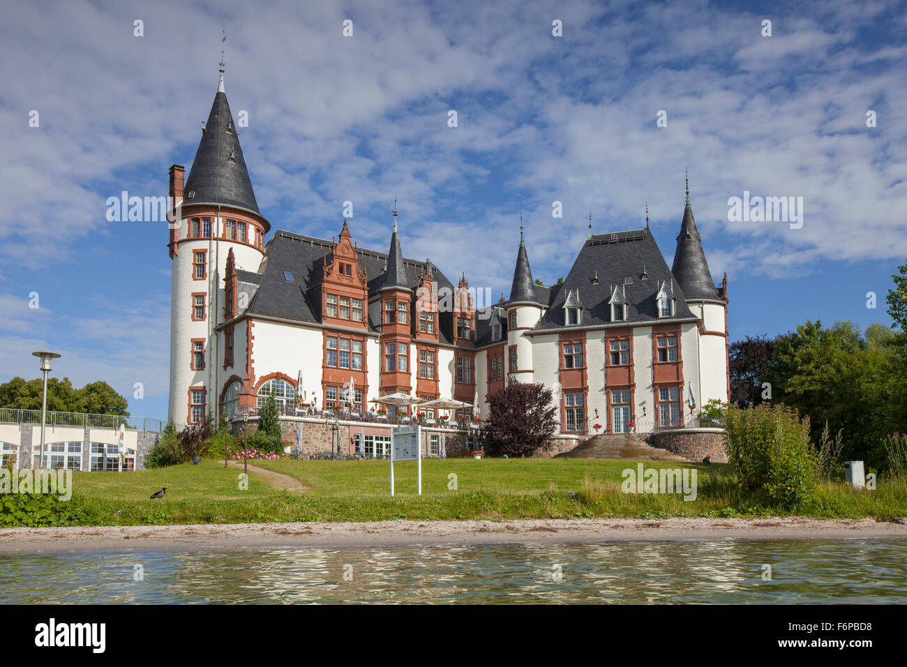 Schloss Klink, hotel at holiday resort in Müritz, Mecklenburg-West Pomerania, Germany - Stock Image