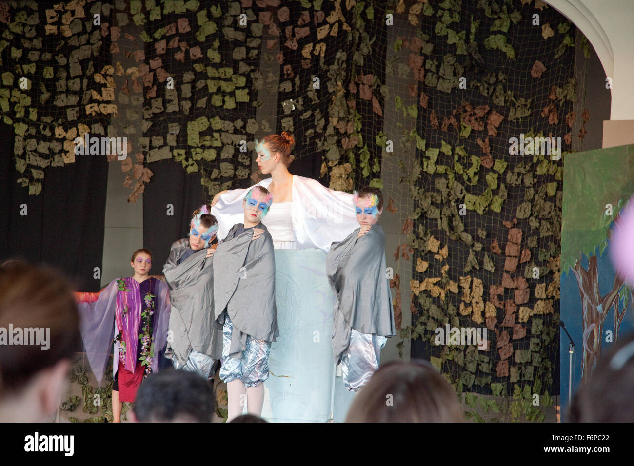 Actors on stage for Into the Woods theatrical play. St Paul Minnesota MN USA - Stock Image