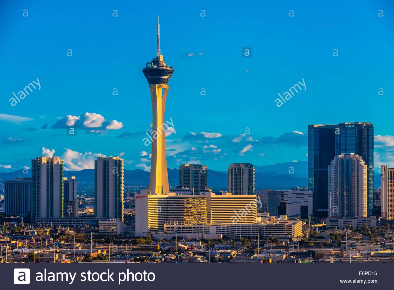 Stratosphere Casino Hotel & Tower, Las Vegas, Nevada USA. - Stock Image