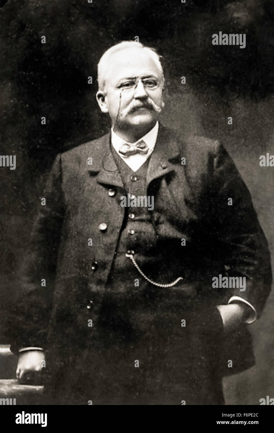 Armand Peugeot (1849-1915) circa 1898, French industrialist and great grandson of  Jean-Pierre Peugeot Junior (1768 - Stock Image
