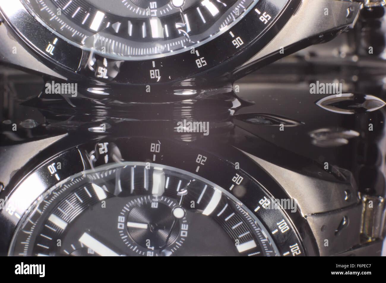 wet clock - Stock Image