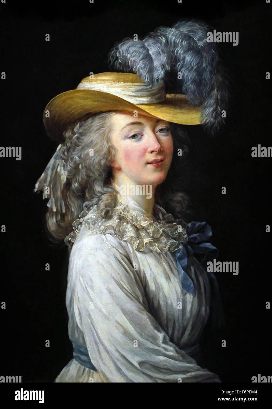 Marie Antoinette en chemise ou en gaulle ( Marie Antoinette, Queen of France (1755-1793) Wife of  King Louis XVI - Stock Image