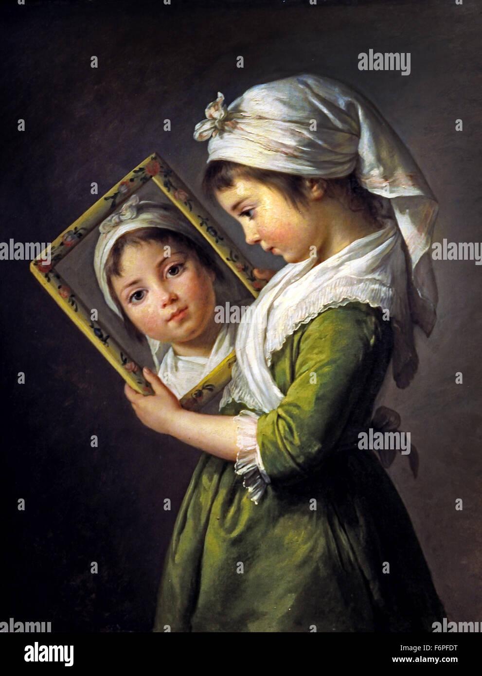 Julie Lebrun ( daughther ) 1787 Marie Élisabeth Louise  Vigée Le Brun 1755 –1842  Paris French France - Stock Image