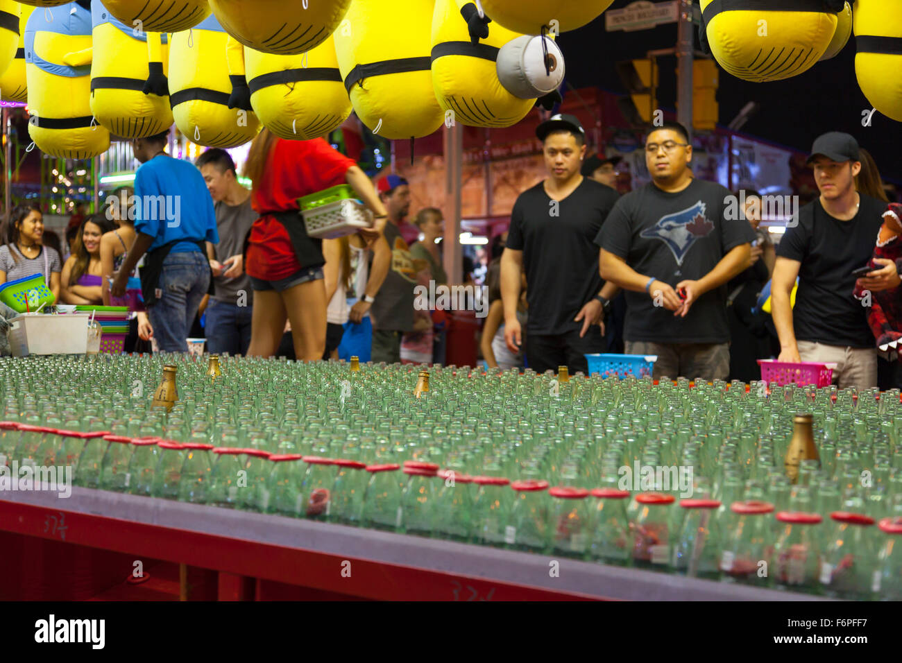 The Ring Toss game. Canadian National Exhibition (CNE), Toronto, Ontario, Canada. - Stock Image