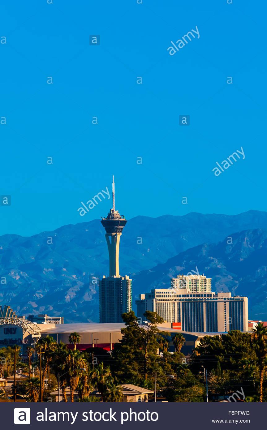 Stratosphere Hotel Tower,  Las Vegas, Nevada USA. - Stock Image