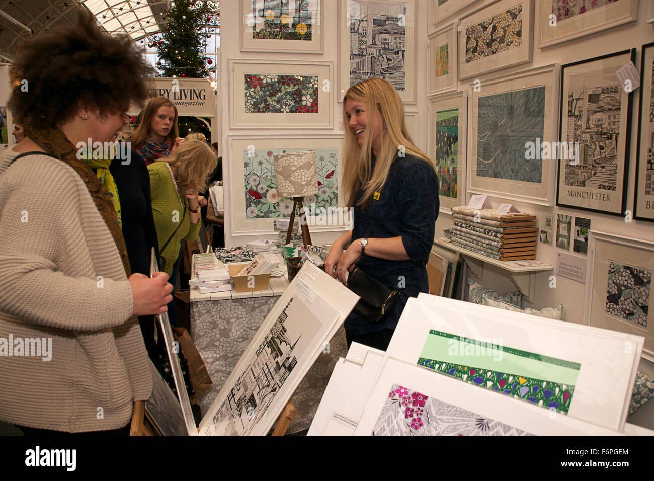 Country Living Christmas Fair, Business Design Centre, Islington, London, 2015 - Stock Image