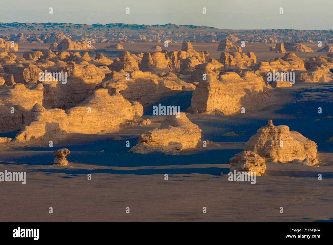 Dunhunag Yardang National Geopark, China  Gobi Desert, Great Silk Road - Stock Image
