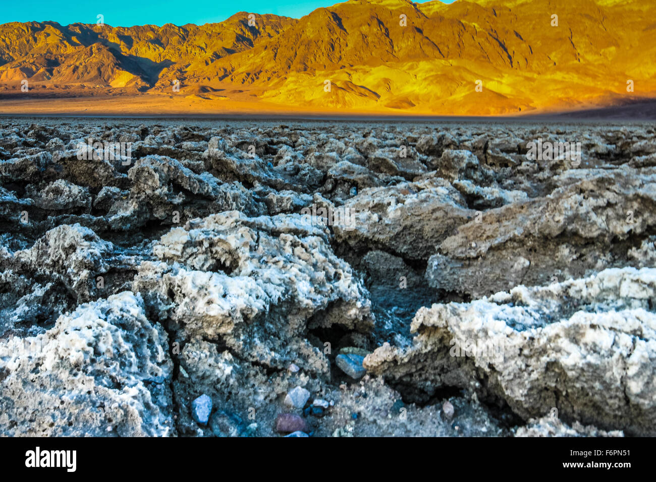 Devil's Golf Course in Death Valley National Park - Stock Image