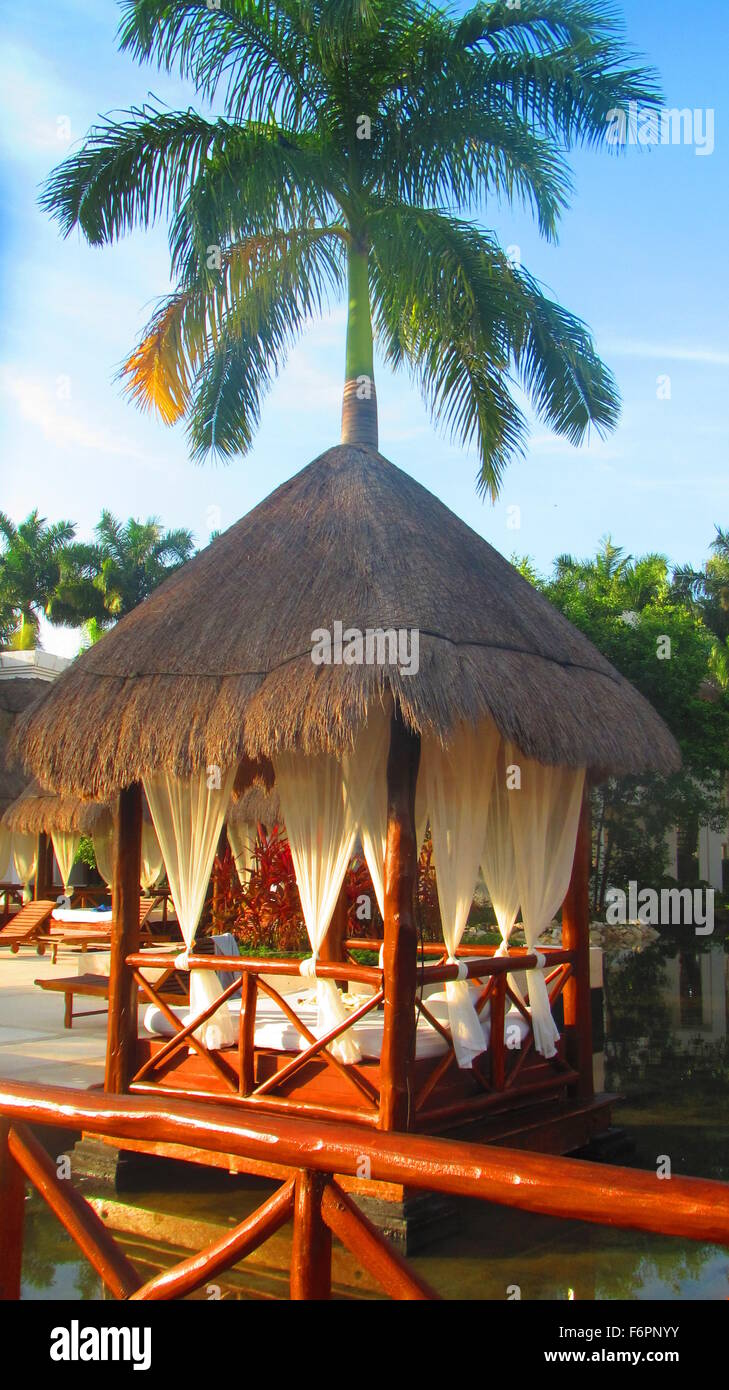 Picture of: Beautiful Bali Style Daybed At A Resort In Cancun Mexico Stock Photo Alamy