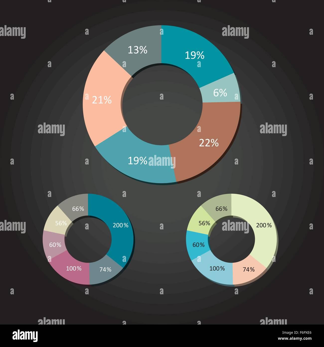 Modern flat design vector pie charts in various colors stock vector modern flat design vector pie charts in various colors ccuart Choice Image