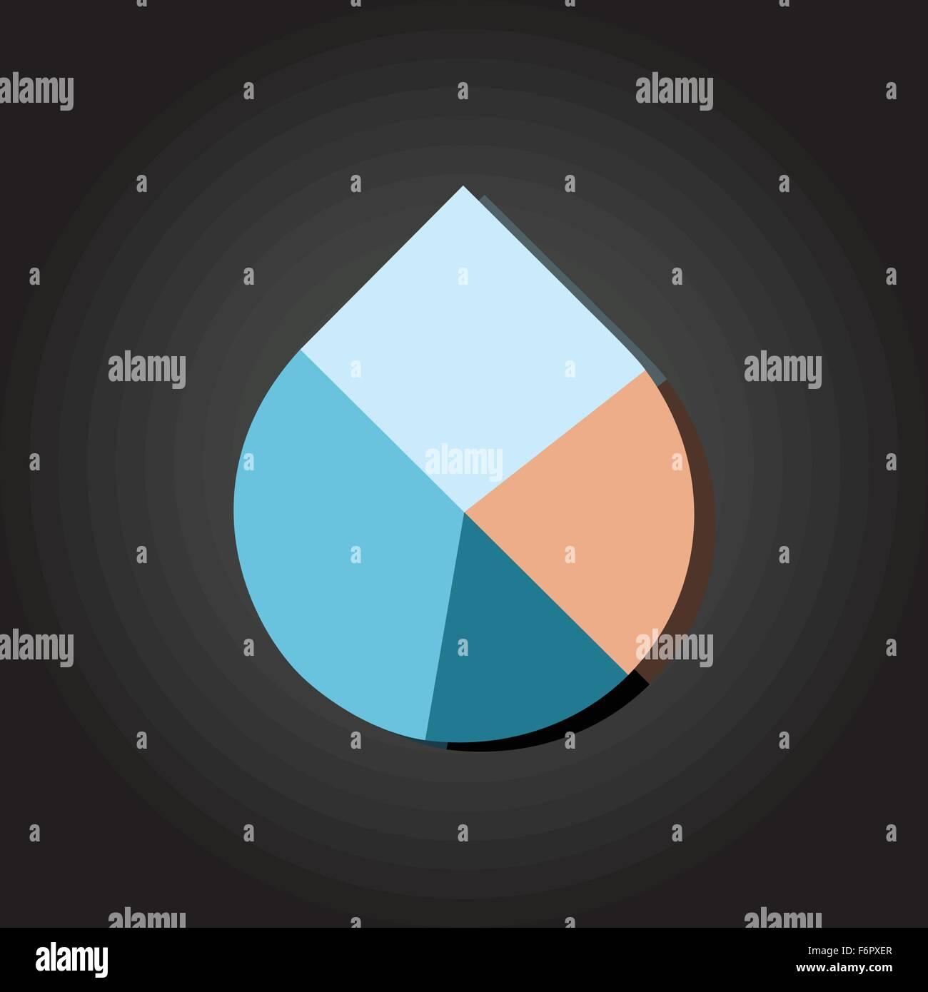 Modern flat design vector water drop pie chart in various colors modern flat design vector water drop pie chart in various colors ccuart Gallery