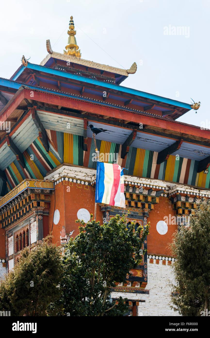 The temple at Ura, Bumthang, Bhutan - Stock Image