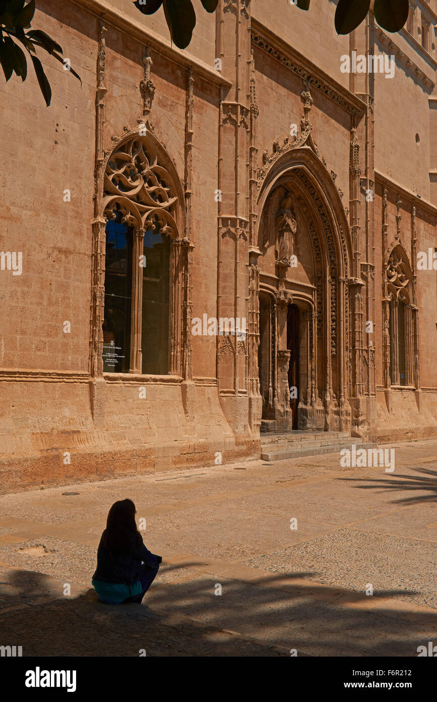 Palma de Mallorca, Sa Llotja, La Llotja Square, Palma, Majorca, Balearic Islands, Spain, europe Stock Photo
