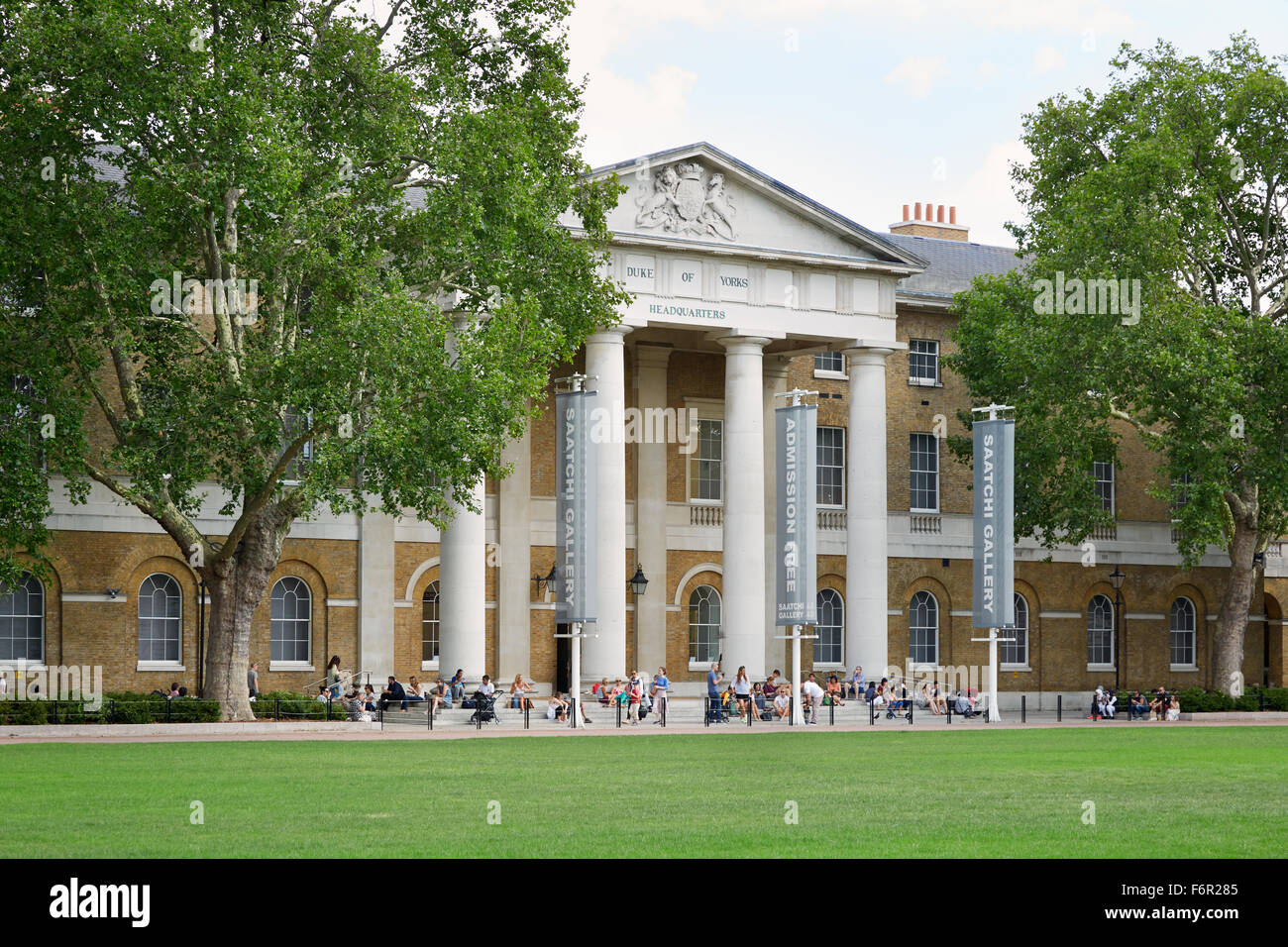 The Saatchi Gallery, famous art gallery in London - Stock Image