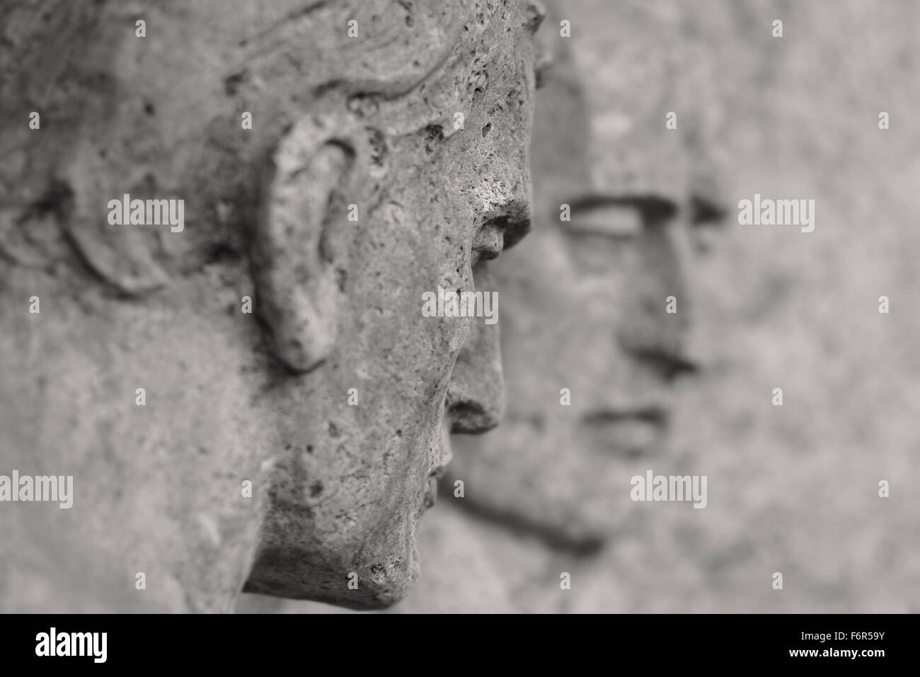 Remembering the Fallen - Graveyard Tomb Sculpture - Stock Image