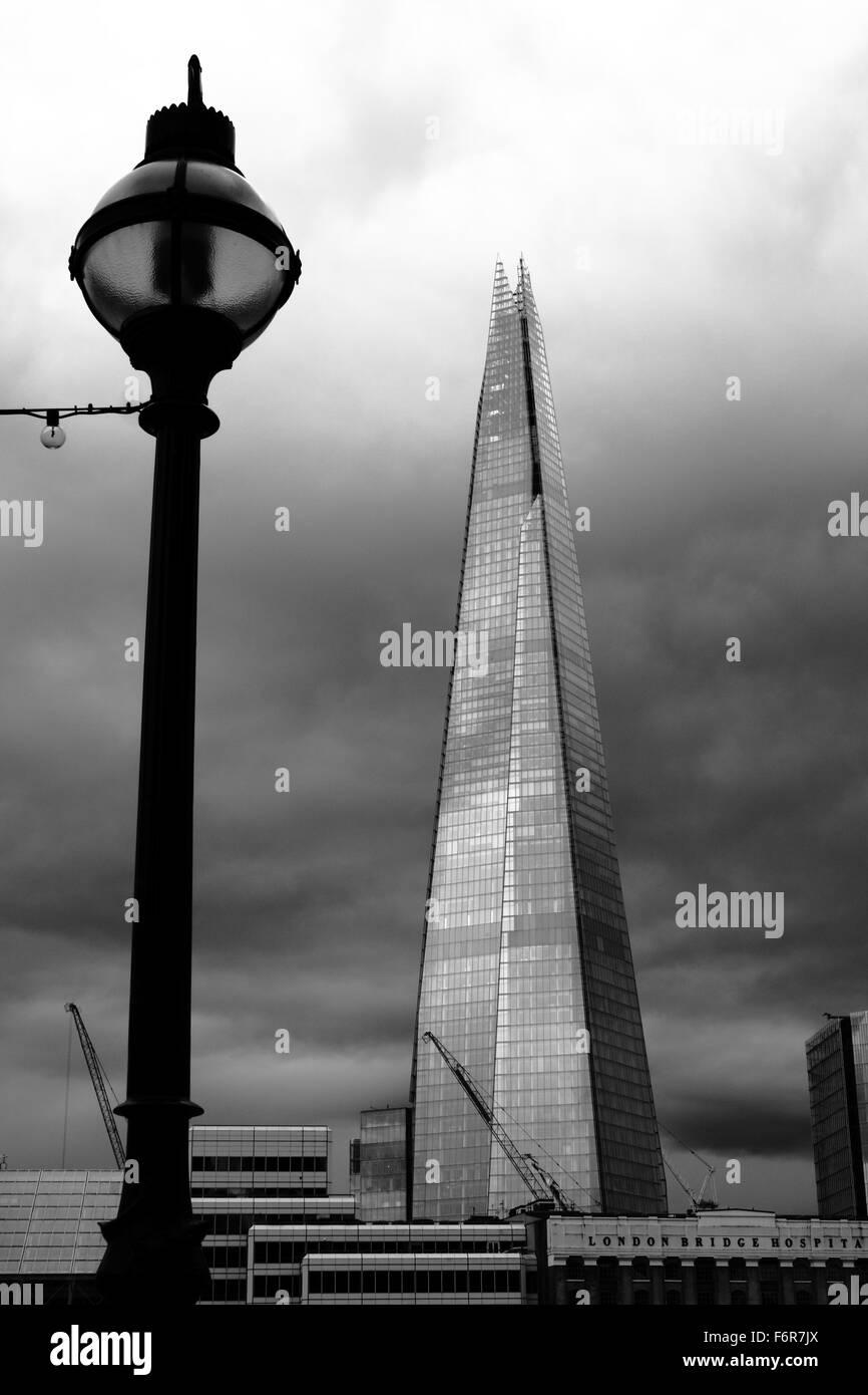 The Shard, London, UK, south bank - Stock Image