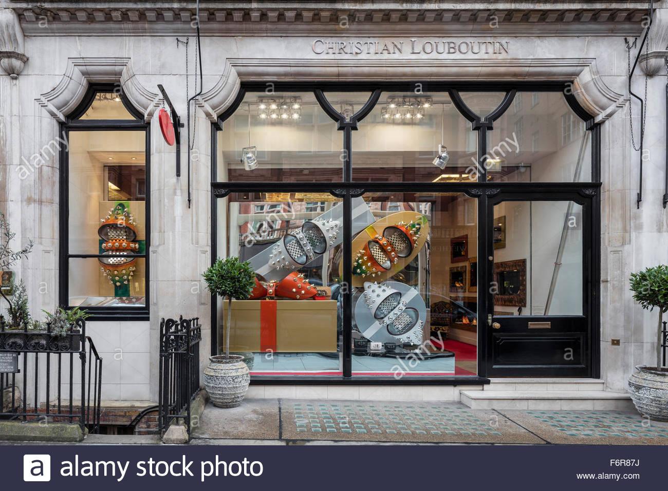 667366a7652 Store Windows view. Christian Louboutin - Christmas 2015, London ...