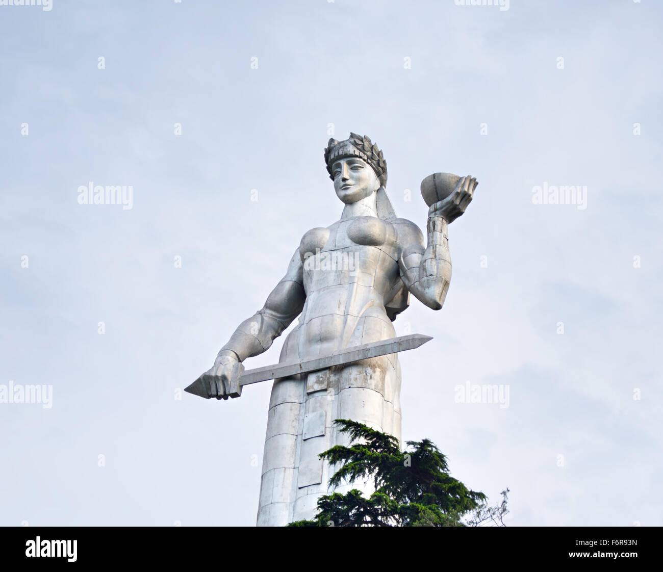Famous Mother Georgia statue, Tbilisi - Stock Image