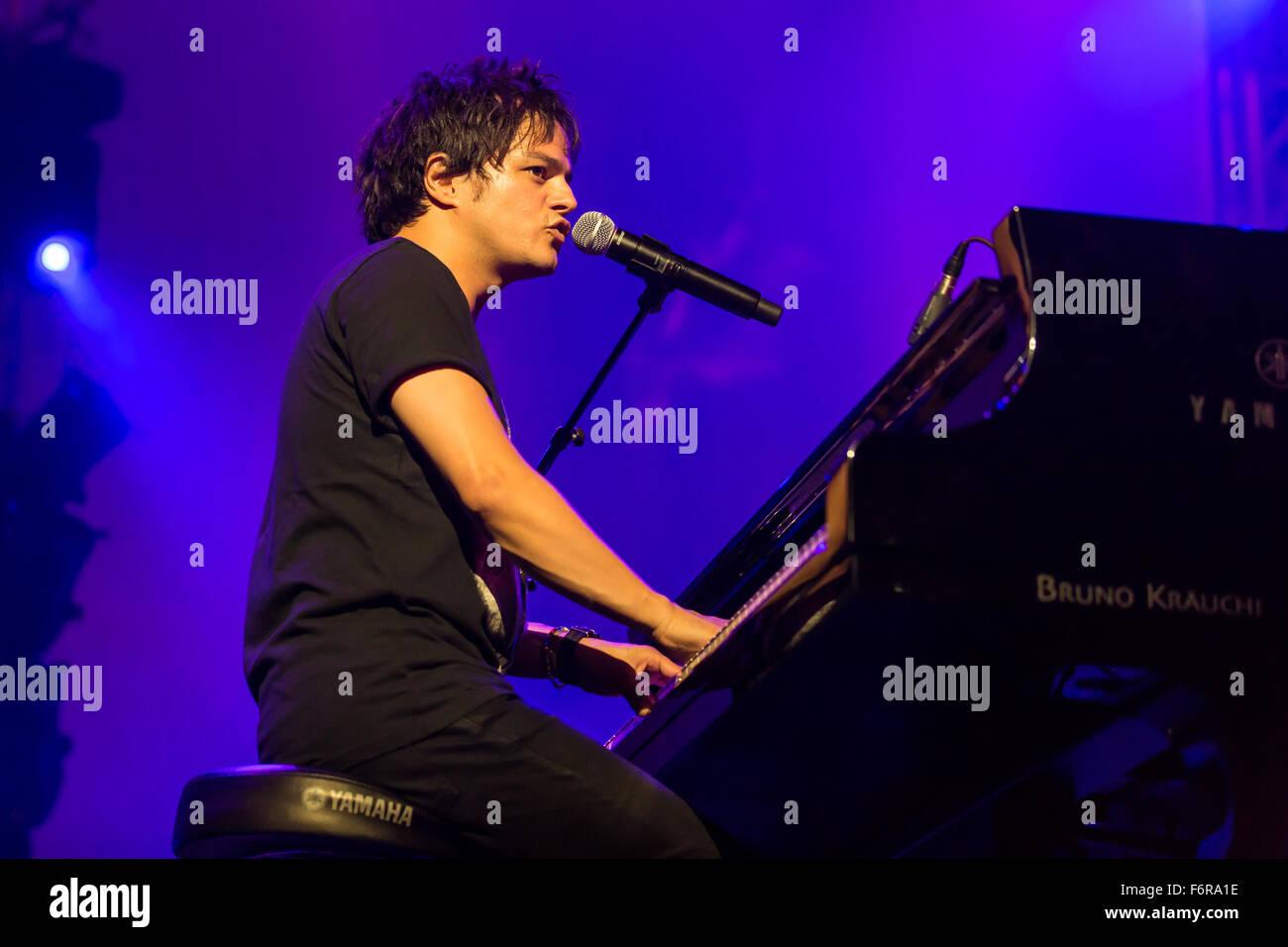 British singer and songwriter Jamie Cullum live at the Blue Balls Festival, Lucerne, Switzerland - Stock Image