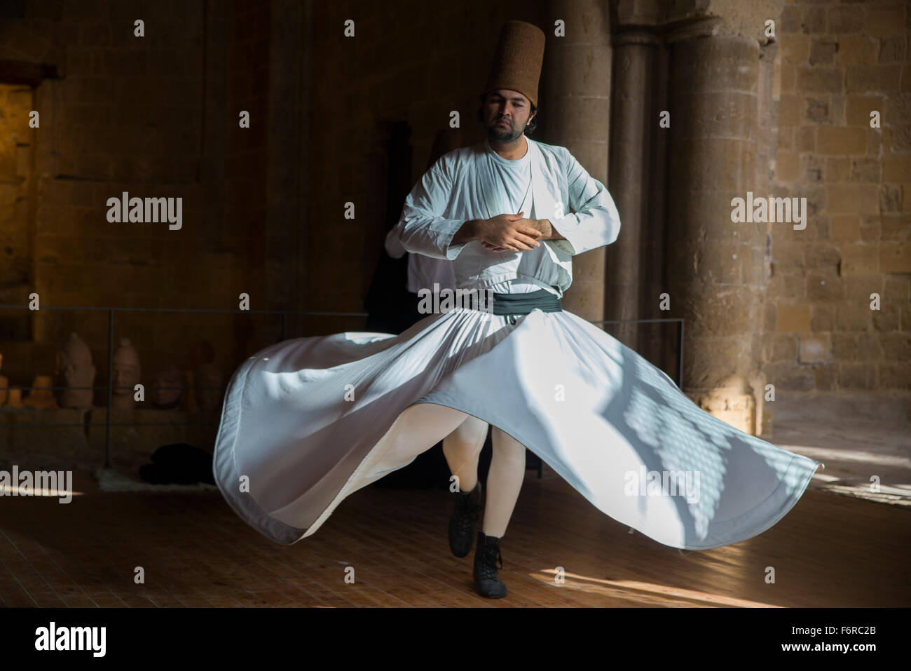 Whirling Dervishes dance in Nicosia, northern Cyprus - Stock Image