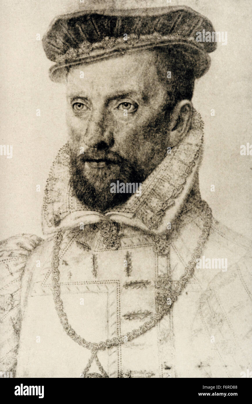 Gaspard II de Coligny (1519-1572).  French nobleman and admiral. Huguenot leader in the French Wars of Religion. - Stock Image
