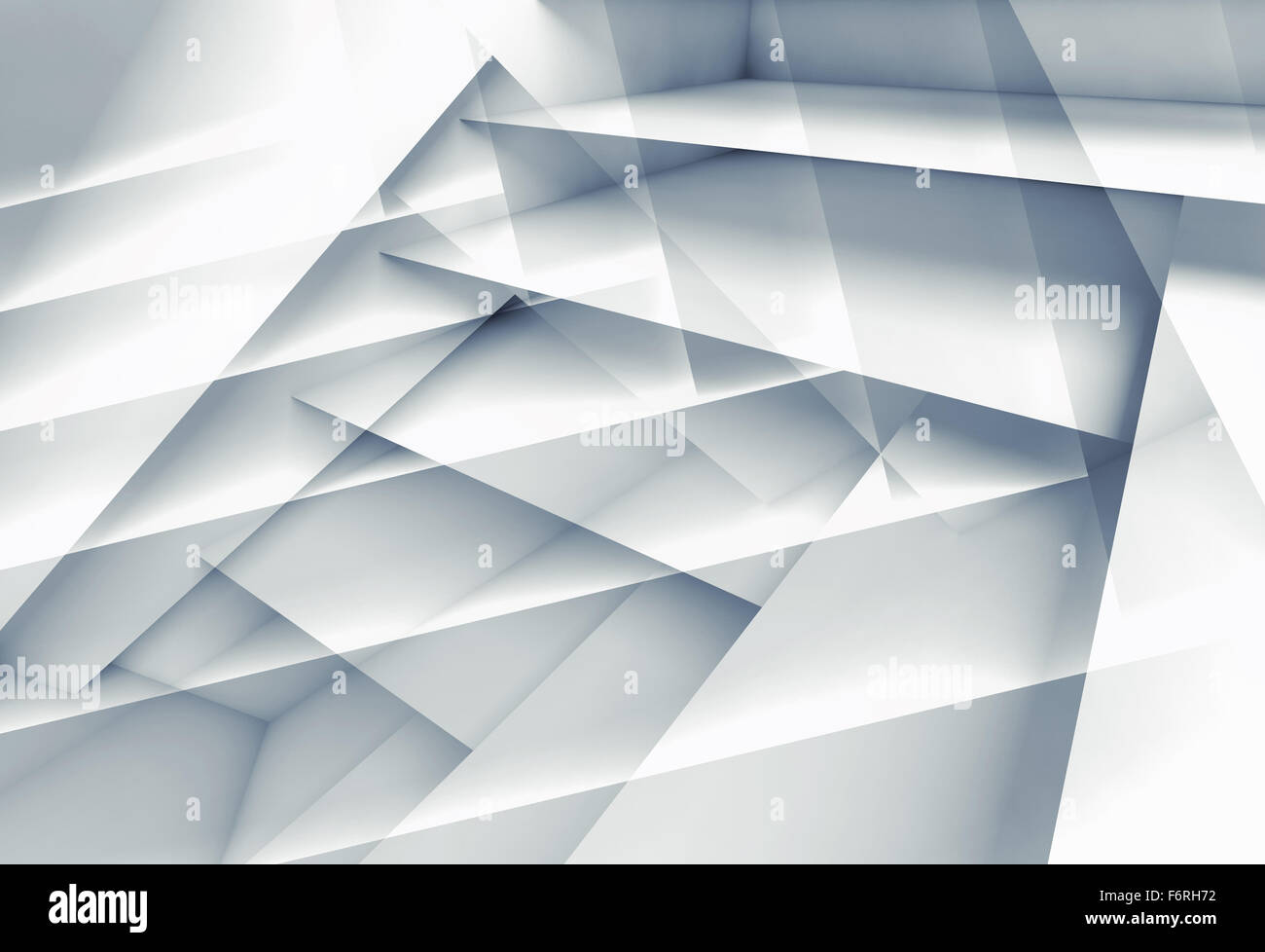 Abstract digital background with multi layered structures, 3d illustration - Stock Image