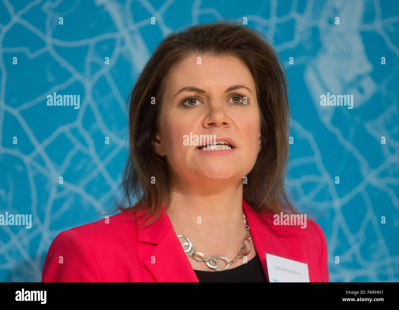 Writer and broadcaster Julia Hartley-Brewer introduces the two candidates in the London Mayoral contest - Stock Image