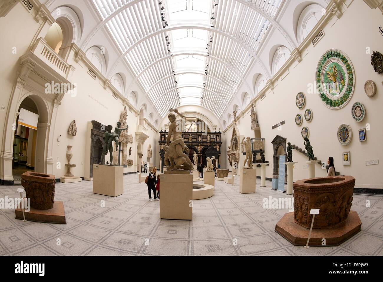 New Renaissance Galleries, Victoria and Albert Museum, London, UK - Stock Image